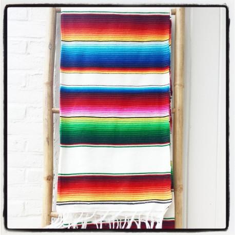Mexicaanse deken Off White