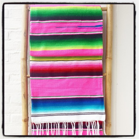 Mexicaanse deken Candy Pink